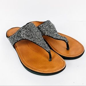 FitFlop BANDA-II Microfibre Toe-Post Sandal